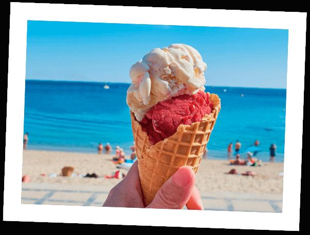 Que nos hace diferentes: En el paseo maritimo de fuengirola - artisanal ice cream shop