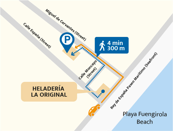Mapa parking La Original contacto - artisanal ice cream shop